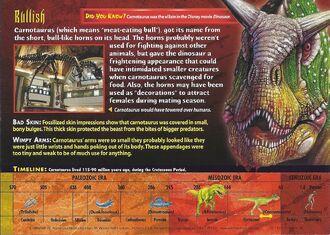 Carnotaurus back