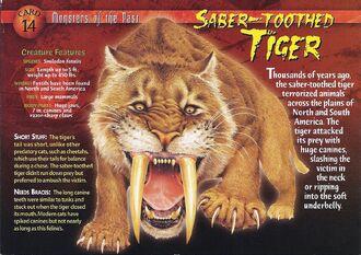 Saber-Toothed Tiger front