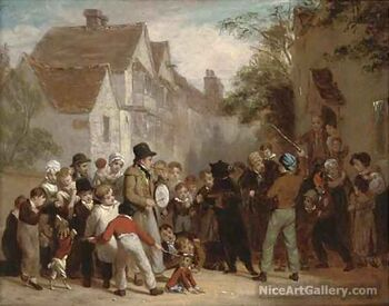 The dancing bear by William Frederick Witherington.jpg