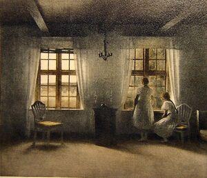 Peter Vilhelm Ilsted (Danish artist, 1861-1933) Girls at Window.jpg