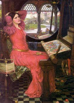 John William Waterhouse - I am half-sick of shadows, said the lady of shalott.JPG