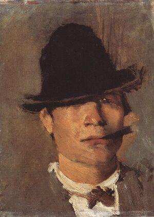 Mednyánszky, László - Tramp with Cigar (ca 1900).jpg
