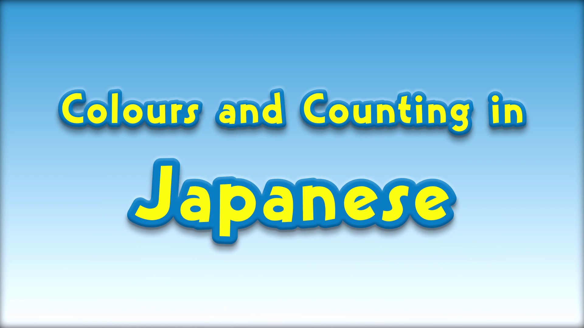 Colours and Counting in Japanese