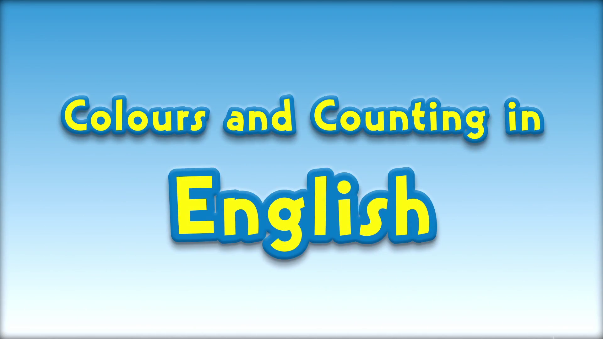 Colours and Counting in English