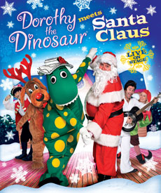Dorothy the Dinosaur Meets Santa Claus Live on Stage