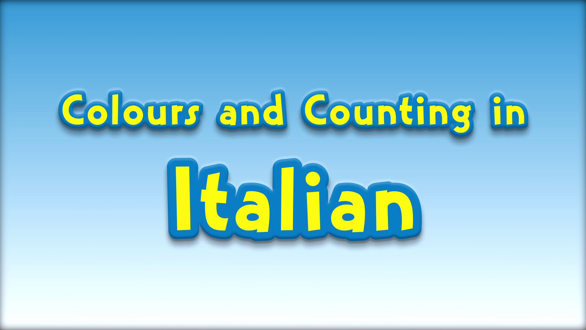 Colours and Counting in Italian