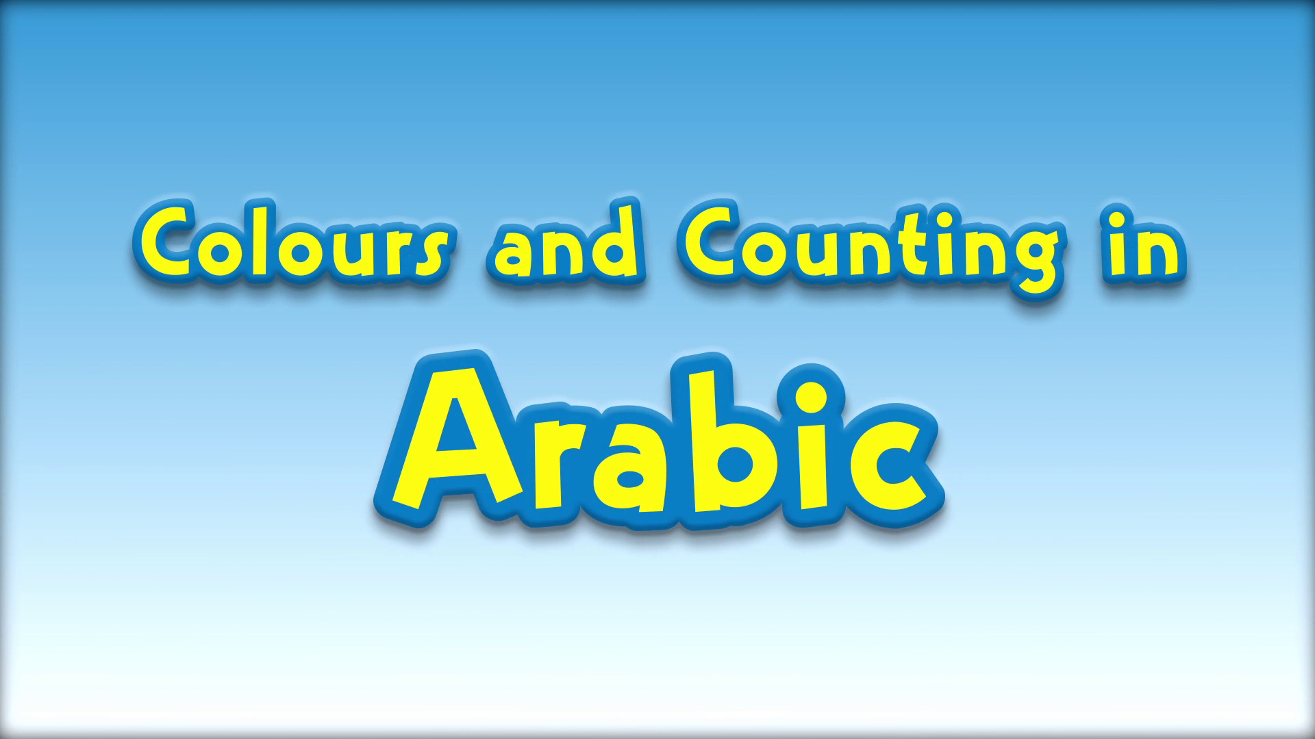 Colours and Counting in Arabic