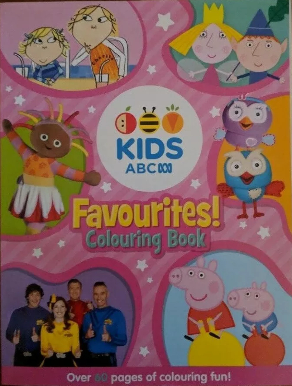 ABC KIDS Favourites! Colouring Book (pink book) V.2