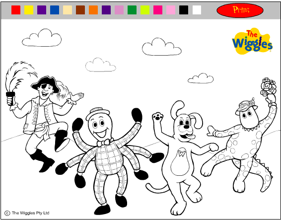 Colour-in Online: The Wiggles Friends