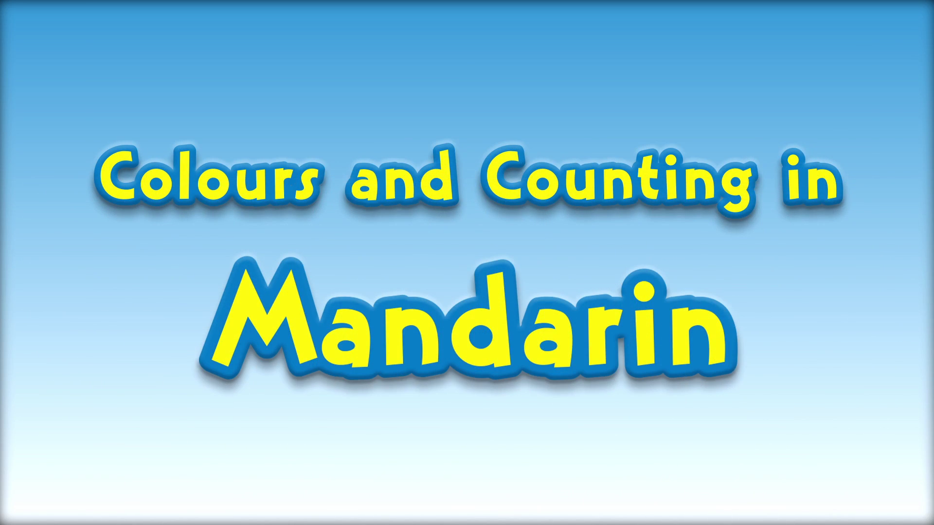Colours and Counting in Mandarin