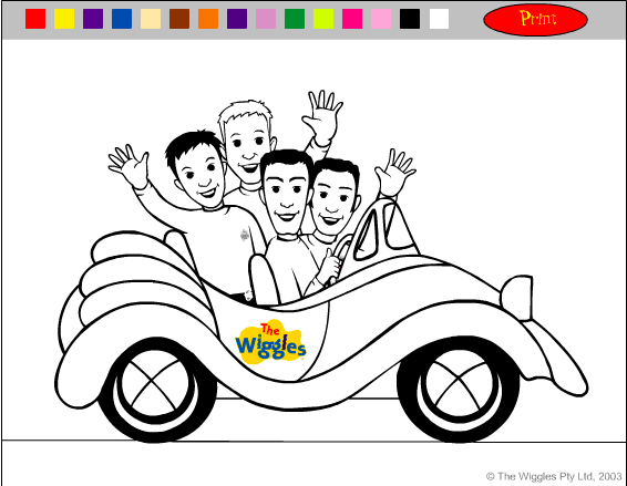 Colour-in Online: The Big Red Car