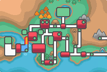 Location of route 40 in Johto
