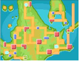 Location of pal Park in Sinnoh and Kanto