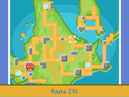 Location of route 210 in Sinnoh