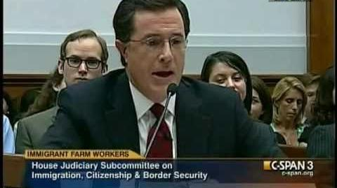 """Stephen Colbert to Congress """"migrant workers suffer and have no rights"""""""