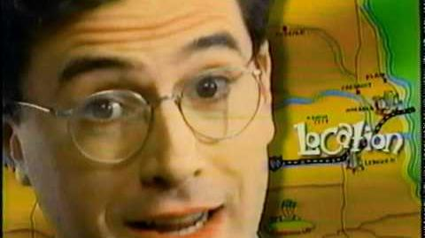 Stephen Colbert commercial (Before they were stars)