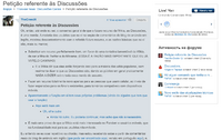 Петиция против Обсуждений на португальском
