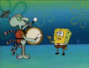180px-Squidward Drumming with SpongeBob