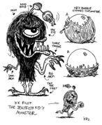 Kamp Koral jellyfish kid's monster by Kaz