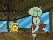 180px-SpongeBob Looking at Squidward Writing
