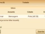 Arquivo de mensagens e relatórios