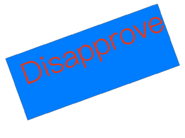 Disapproved