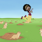 Koki With Prarie Dogs.png