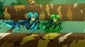 Praying Mantis Bros Running