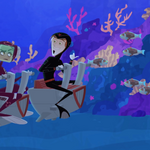Zach and Donita in Diving Suits.png