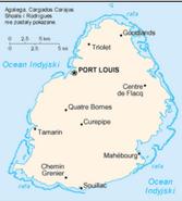 Mapa Mauritius