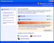 Windows Security Center XP SP2