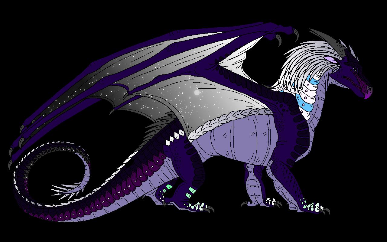Galaxy Icewing Nightwing Hybrid Wings Of Fire Fanon Wiki Fandom