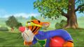 Tigger tries to whislte