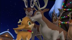Holly Reindeer and Parents