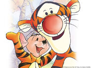 Pooh Wallpaper - Tigger & Roo in the Tigger Movie