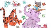 Super Sleuth Coloring - Tigger, Roo & Lumpy