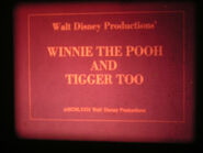 Super 8mm - Winnie The Pooh and Tigger Too - 1974 - Sound - 200ft