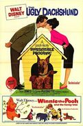 The Ugly Dachshund & Winnie the Pooh poster