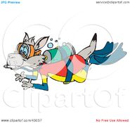 Clipart-Illustration-Of-A-Kangaroo-Scuba-Diving-With-Oxygen-102443057