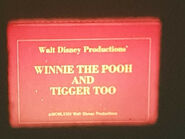 DISNEY WINNIE THE POOH & TIGGER TOO SUPER 8 COLOUR SOUND 200FT CINE FILM 8MM