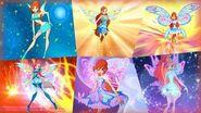 Winx Club - Bloom All Full Transformations up to Tynix! HD!