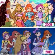 Winx - 10 Years Challenge