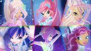 Winx Club - All Transformations up to Tynix in Split Screen! HD!-2
