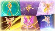 Winx Club - Stella All Full Transformations up to Tynix! HD!