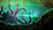 Tecna fighting an Electroctopus