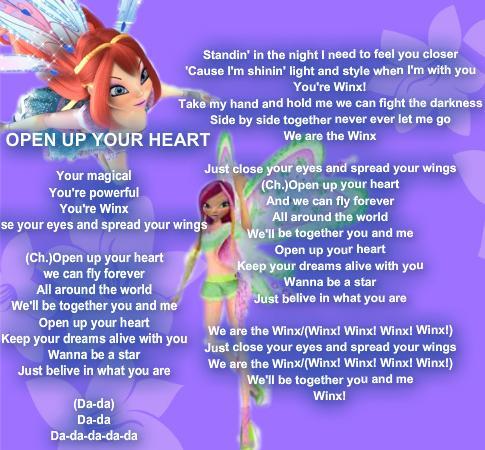 Winx Open Your Heart