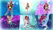 Winx Club - Aisha Layla All Full Transformations up to Tynix! HD!