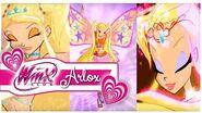 Winx Club - Stella All Transformations