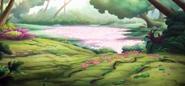 Розовое озеро в Райской бухте