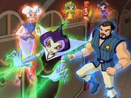 Griffin with Faragonda, Codatorda and the Codex Pixies